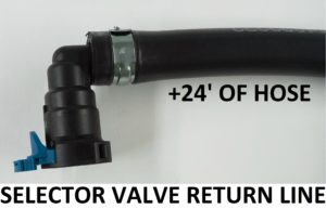 Updated 6/9/20 selector valve return line