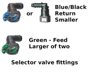 Updated 6/9/20 selector valve fittings